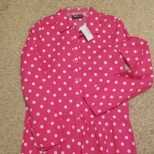 Girls Long Sleeve Button Down Shirt